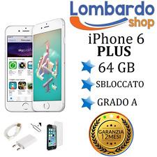 APPLE IPHONE 6 PLUS 64GB GRADO A BIANCO SILVER RIGENERATO RICONDIZIONATO USATO