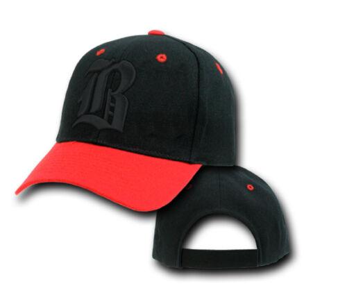 NEW Casual BASEBALL CAP B HAT SNAP BACK Adjustable Strap Unisex Mens Women Black