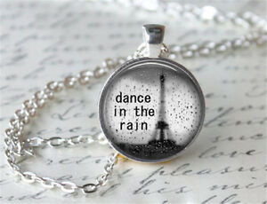Dance-in-the-rain-Cabochon-Silver-plated-Glass-Chain-Pendant-Necklace-D51