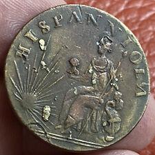 Dominican Republic? 1/2 Penny 1795 Non Regal RARE!