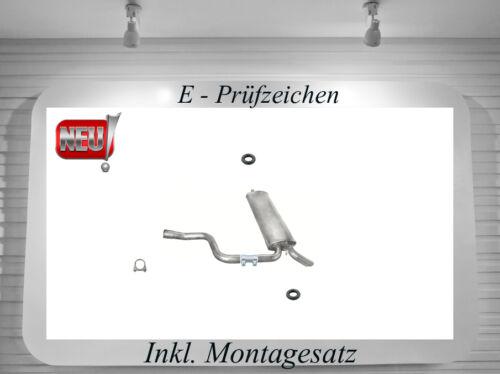 Auspuff Mercedes S124 200 230 250 2.0 2.3 2.5 Endschalldämpfer Montagesatz Neu