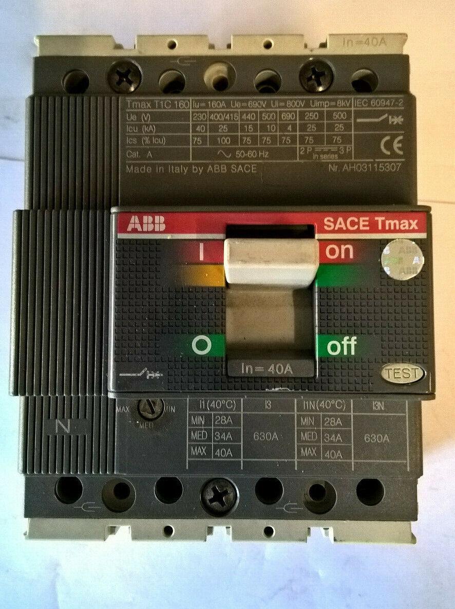 N°1 ABB SACE TMAX T1C 160 in 40A 1SD A050907 1R