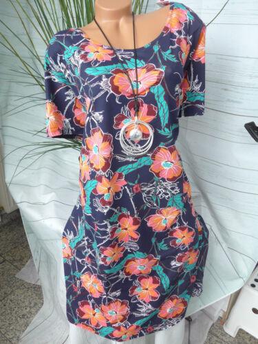 44-58 weich fallend Sheego Jersey Kleid Viskose Gr NEU 745