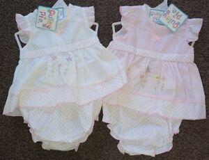 Baby-Girl-Sun-Dress-Knickers-Pants-Frilly-Spanish-Style-Premature-Prem-Reborn