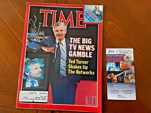August 9, 1982 TIME Magazine- Ted Turner- Signed- Autograph- JSA- COA