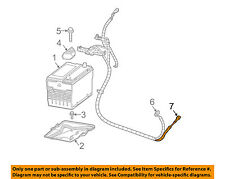 Pontiac Gm Oem 2004 Grand Prix Battery Negative Cable 88987119