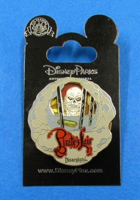 Disney Pin Pirate's Lair Skeleton Jail Cell Tom Sawyer's Island Spinner