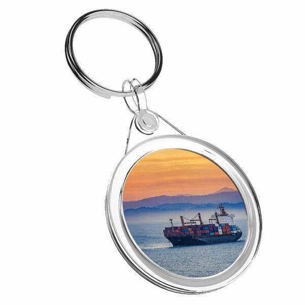 1 Nave Container X Maritime Ocean-portachiavi Ir02 Mamma Papa 'regalo Di Compleanno #16715 Alta Qualità