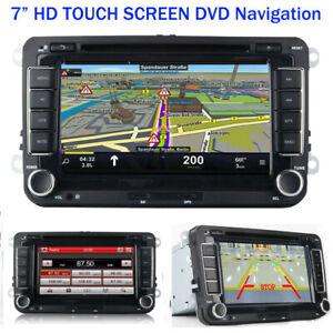 7-034-2DIN-l-039-autoradio-Radio-Bluetooth-La-navigation-CD-pour-VW-GOLF-PASSAT-TOURAN