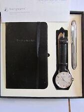 Bergmann 1953 * im Karton * Rund * Herren Quarz Uhr * Lederband Schwarz Kroko