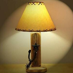 Exceptionnel Details About Rustic Western Table Lamp Texas Star Spurs Lodge Cabin  Southwestern Rec Room
