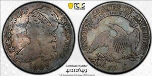 1807 50C Bearded Goddess Capped Bust Half Dollar PCGS G06 O-111B