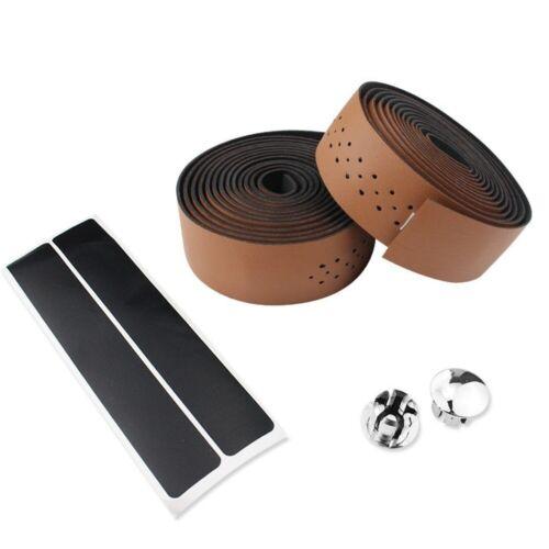 Bike Handlebar Tape MTB Soft Leather PU Fixed Bar Belt Breathable Accessories