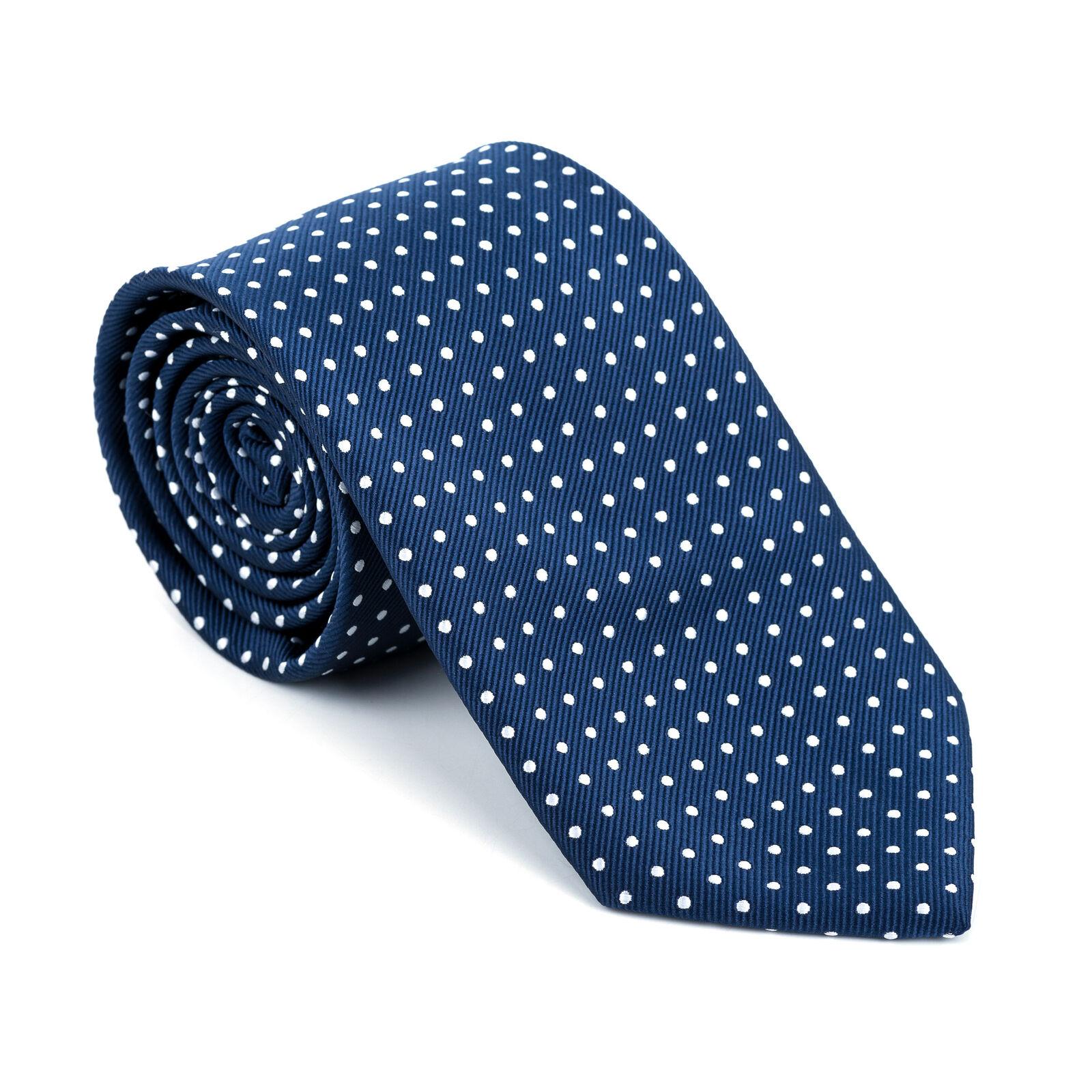 UK Navy Tie Polka Dot Regular Formal Wedding Necktie Multiple Colours