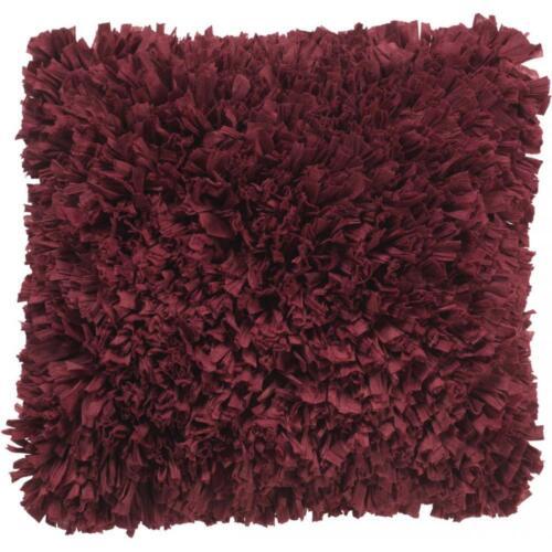 Dutch Decor Kissenhülle Romano 45x45 cm bordeaux Polyester Baumwolle