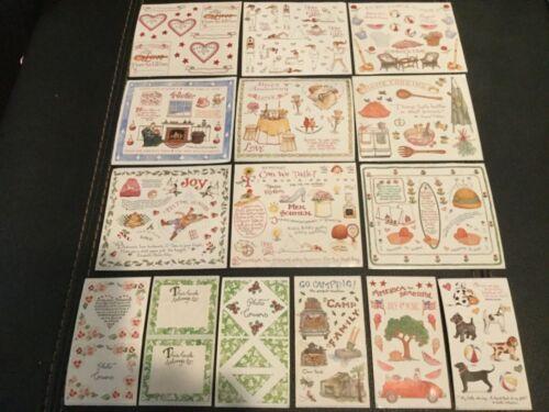 Susan Branch Sticker Lot 15 sheets
