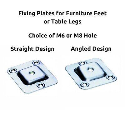 M6 M8 Fixing Mounting Plates Brackets Straight Level