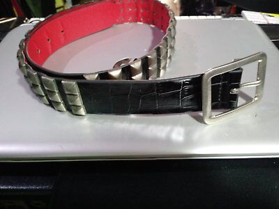 Generic Rock Belt Buckle Cinta Borchiata Studded