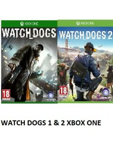 Watch-Dogs-1-amp-2-Xbox-one-MINT-Same-Day-Dispatch-via-Super-Fast-Delivery