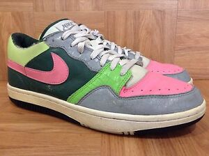 premium selection 2cecf 639b6 Image is loading RARE-Nike-Court-Force-Dunk-Low-Black-Forest-