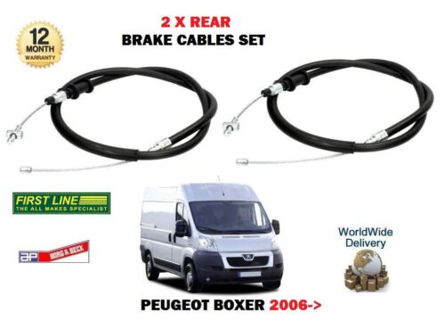 RIGHT 2 X REAR HAND BRAKE CABLE SET FOR PEUGEOT BOXER 2006--/> NEW LEFT