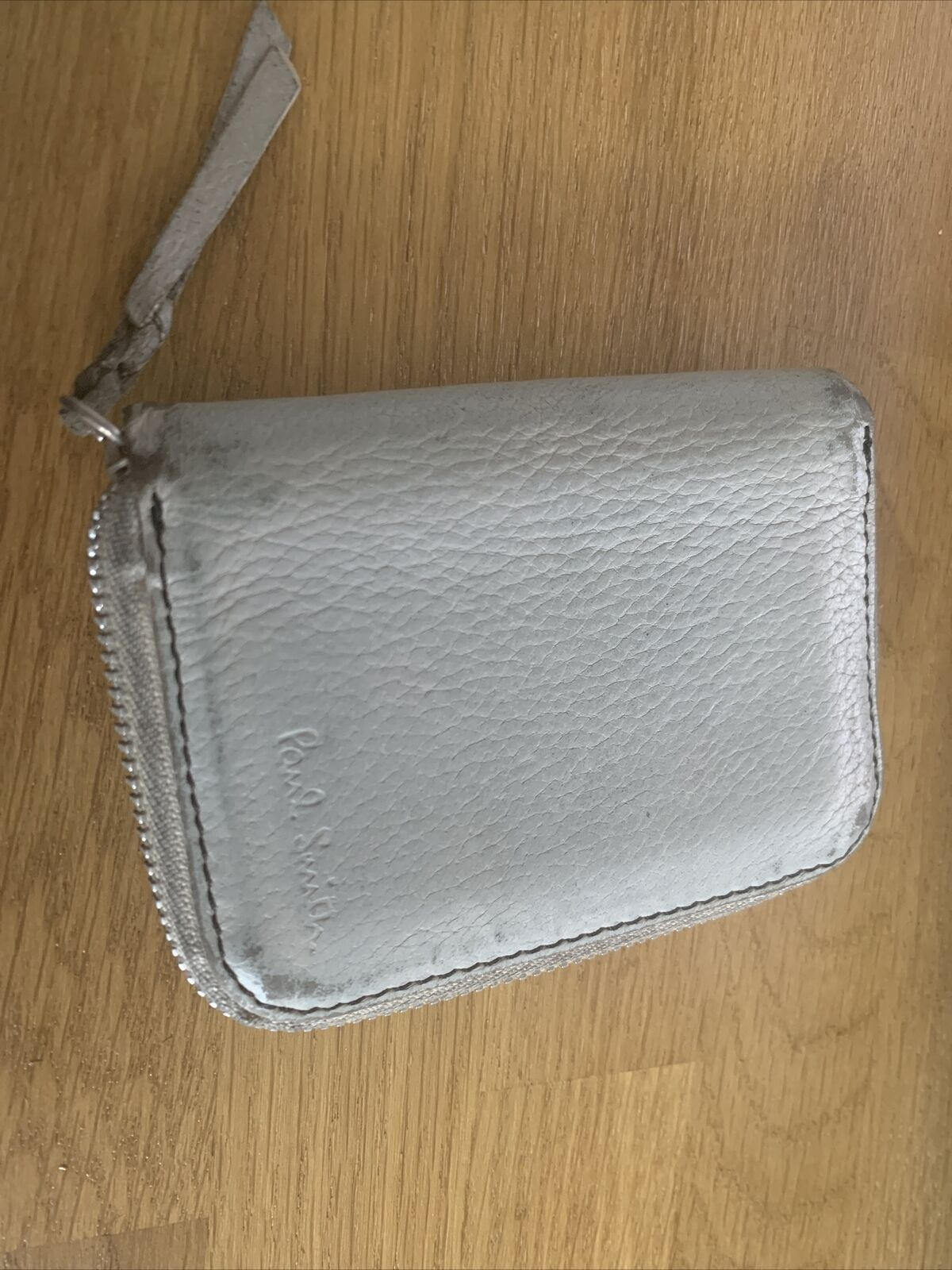 Genuine Leather Paul Smith Cream Made In Italy Wallet Pouch