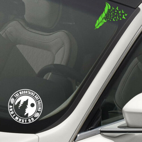 Camping Mountains calling Round RV Tent Trailer Sticker Decal