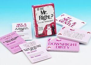 Il est monsieur droit? jeu de cartes amusant hen night party quiz carte pour la mariée adulte fun  </span>