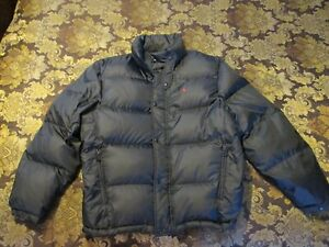 POLO-RALPH-LAUREN-MENS-GOOSE-DOWN-PUFFER-JACKET-BLACK-SIZE-L-EXCELLENT-PLUS