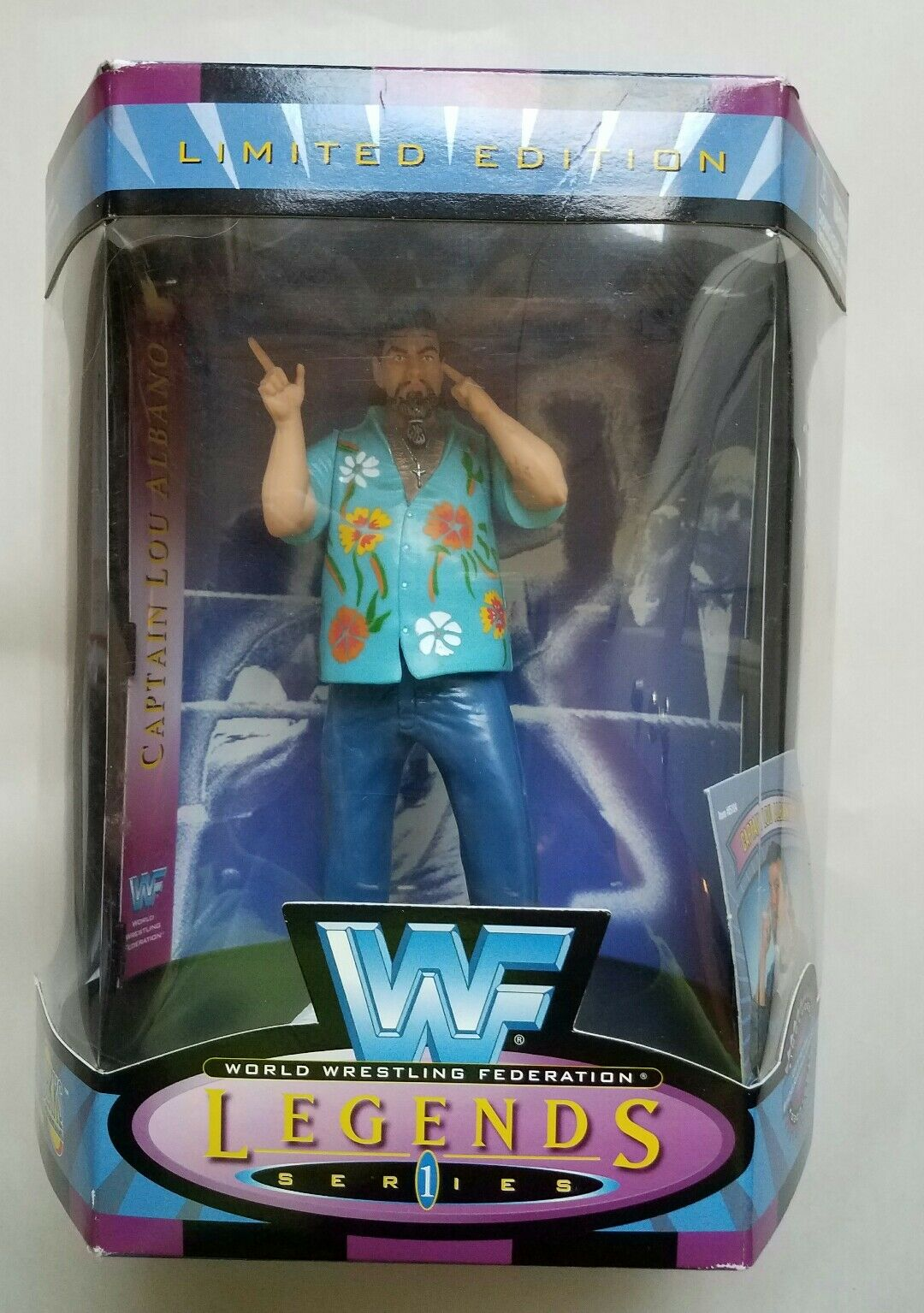 Captain Lou Albano Signed & Inscribed WWF WWE Legends Series 1 Action Figure