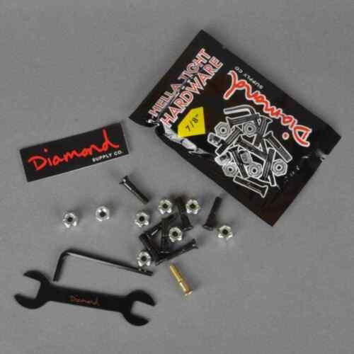 """Accessory Skateboard Diamond Hella Tight 7//8/"""" Hardware Silver"""