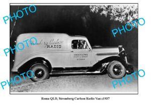 OLD-6x4-PHOTO-ROMA-QUEENSLAND-STROMBERG-CARLSON-RADIO-VAN-c1937