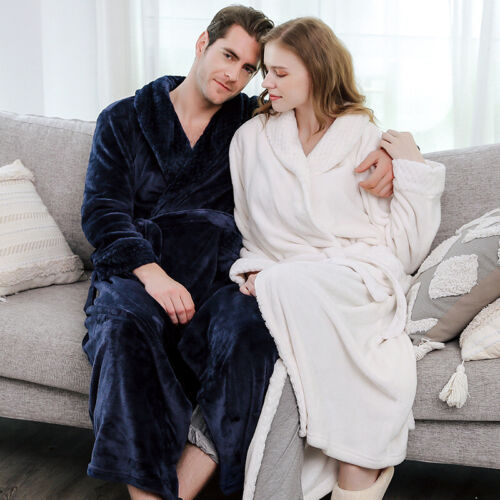 New Fall//Winter Flannel Bathrobes Full Length Bedgown Cheap Towelling Bath Robes