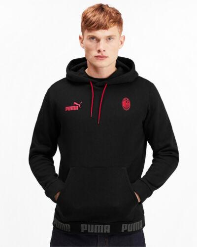 Ac Milan Puma Felpa Cappuccio Hoodie Nero Culture FTB Pullover 2020 Uomo Coton