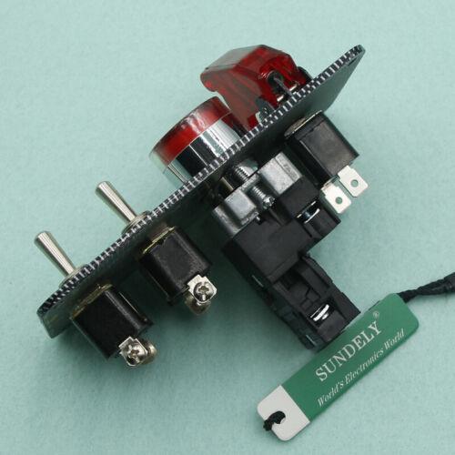UK Racing Car Ignition Switch Panel LED Toggle Engine Start Push Button Starter