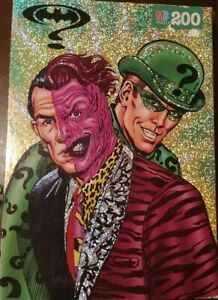 1995-Batman-Forever-Two-Face-amp-Riddler-200-Pieces-Puzzle-Jigsaw-HTF-Rare-Shiny