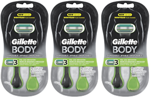 Gillette-Body-Men-039-s-Disposable-Razors-2-Count-Pack-of-3