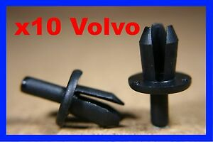 20x Clips For Volvo Rocker Panel Wheel Arch Lining Cover Push Rivet Fastener