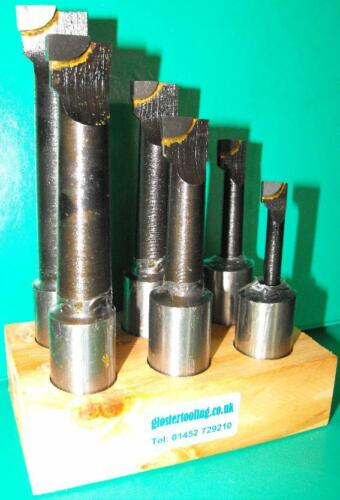 Set of 6 25mm Shank Carbide Tipped Boring Tools