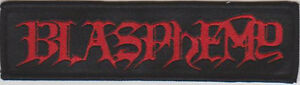 Blasphemy-Logo-Patch-Black-Death-Metal-Bathory-Venom-Deicide-Revenge-Archgoat