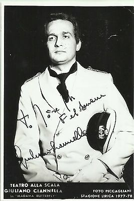 """Giuliano Ciannella In """"madam Butterfly"""" Original Vintage Handsigned Photograph Easy To Lubricate Music Classical, Opera & Ballet"""