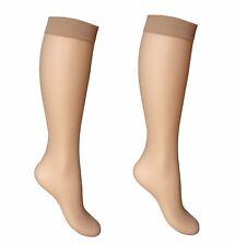 c894b05d0 2 pairs 15 Denier Ladies Soft Sheer Knee High Trouser Pop Socks Knee Highs-  sn
