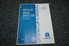 New Holland 240tl 240tl Ss Tractor Loader Operator 706 Manual Free Shipping