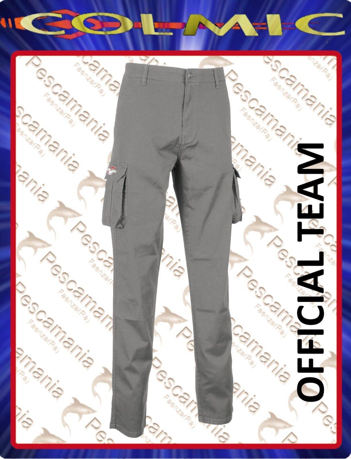 Pantalone Colmic grau SUMMER Offizielles Team cotone elastan