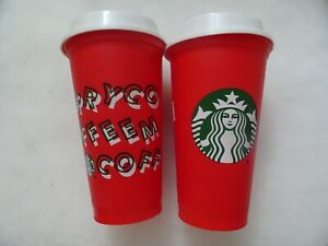 tumbler 2019 new starbucks red holiday cup reuseable 16 oz