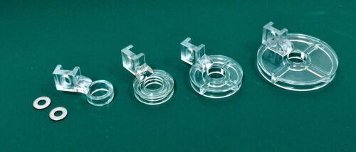 4 Feet Set PF-ECHO Clear Plastic Ruler Foot /& Echo Feet Package Low Shank