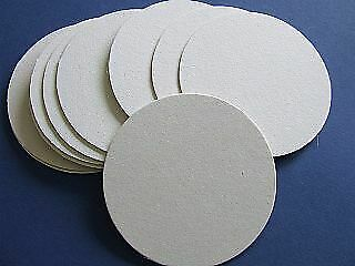 10 Round 10cm Compressed Board Coaster Blanks to Decorate for DIY Crafts
