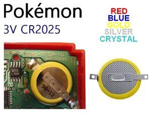Pile 3V CR2025 sauvegarde mémoire GameBoy Pokemon Or Argent Cristal Bleu Rouge