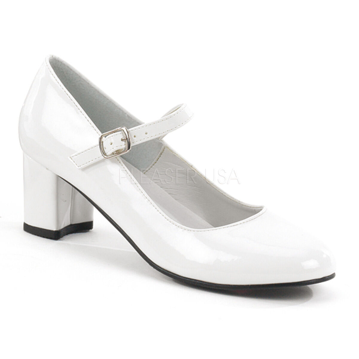 White School Girl Saddle shoes Grease 1950s Costume Low Heels Womans