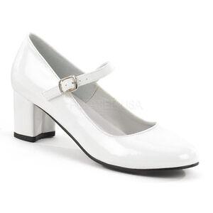 White Low Heels School Girl Uniform Saddle Shoes 50s Retro Heels ...